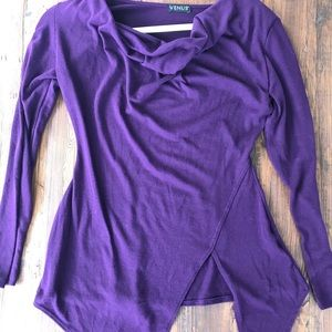 Venus Draped Cowl neck sweater/shirt